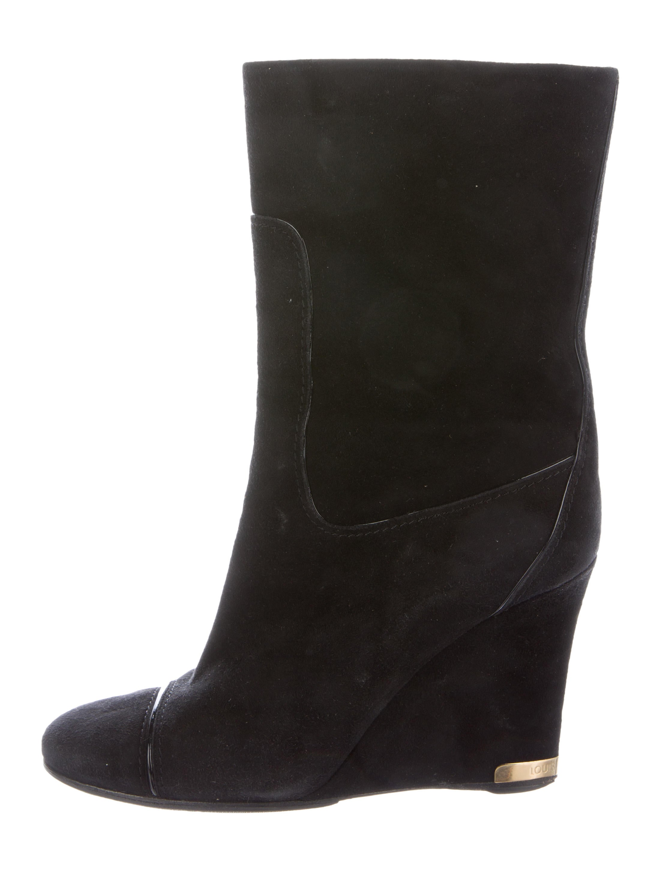 louis vuitton suede mid calf boots shoes lou90304