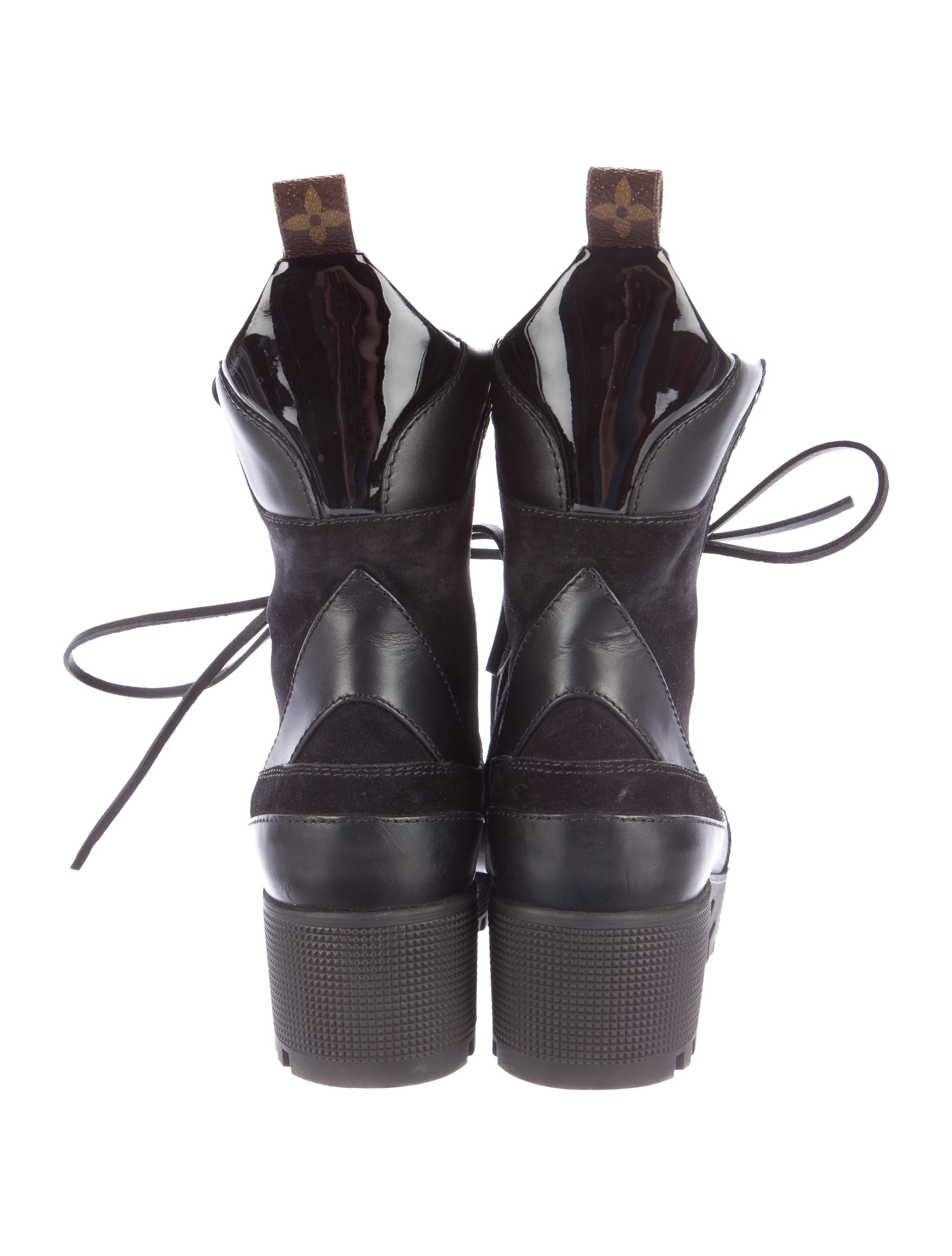 louis vuitton 2016 laureate platform desert boots - shoes