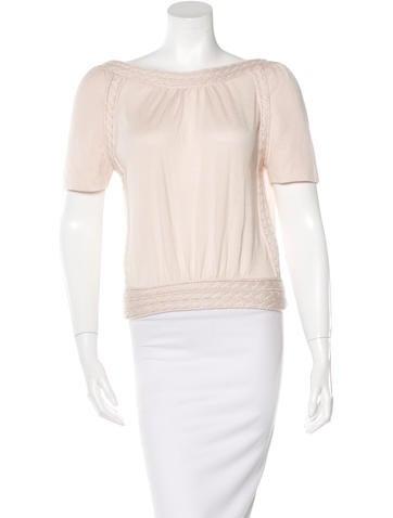 Louis Vuitton Cashmere & Silk-Blend Open Back Top None