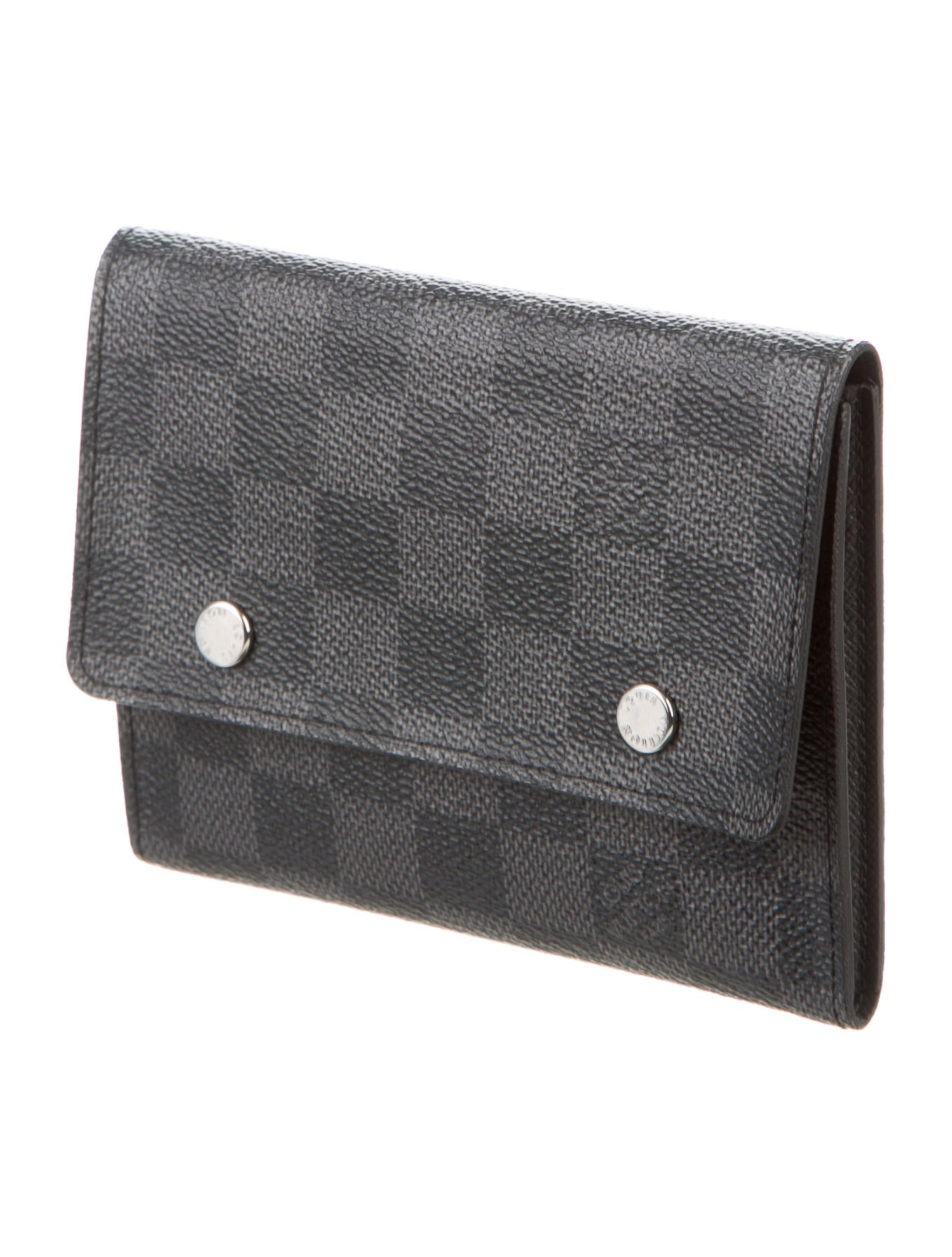 GQX33 Slim Leather Billfold Damier Ebene Wallet