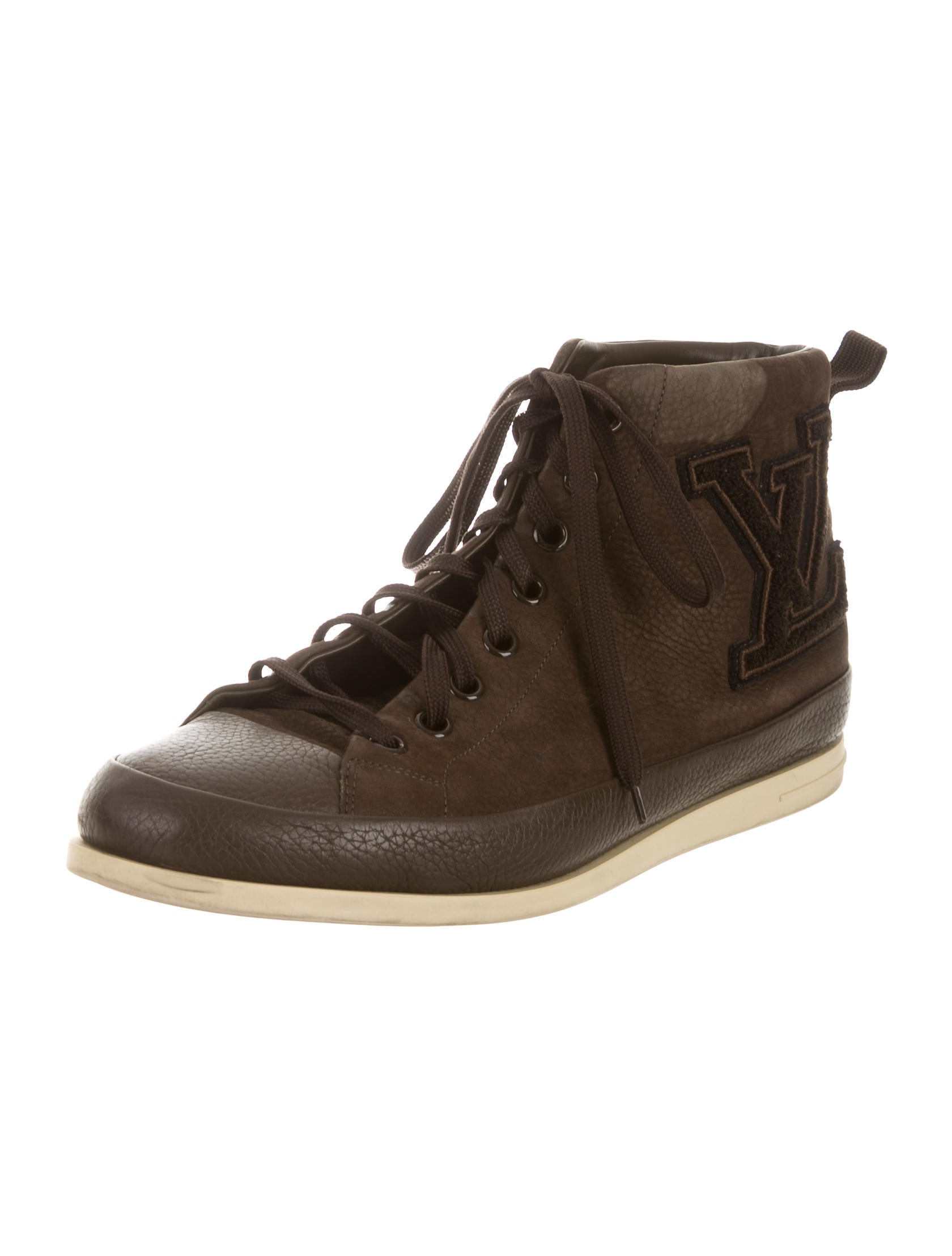 Louis Vuitton Leather High-Top Sneakers - Shoes - LOU91304 ...