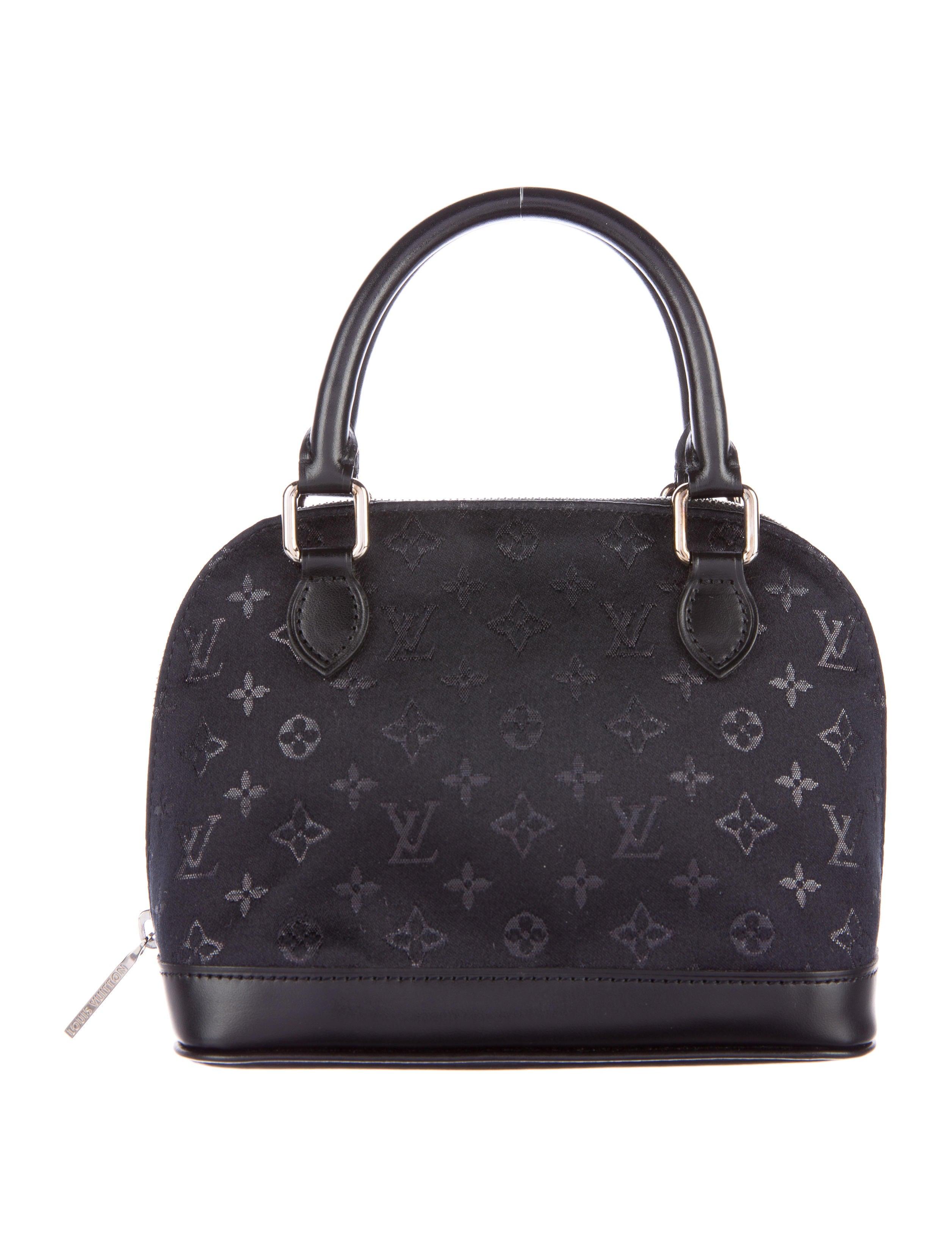 Louis vuitton monogram satin nano alma bag handbags for Louis vuitton miroir alma bag price