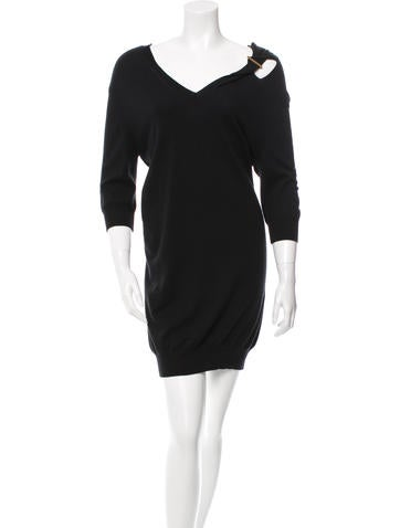 Louis Vuitton Cutout Cashmere Dress None