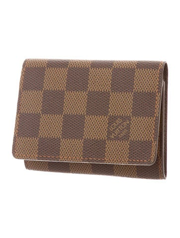 Damier Ebene Business Card Holder