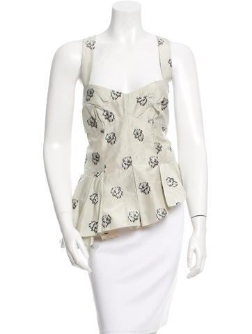 Louis Vuitton Silk Patterned Top w/ Tags None