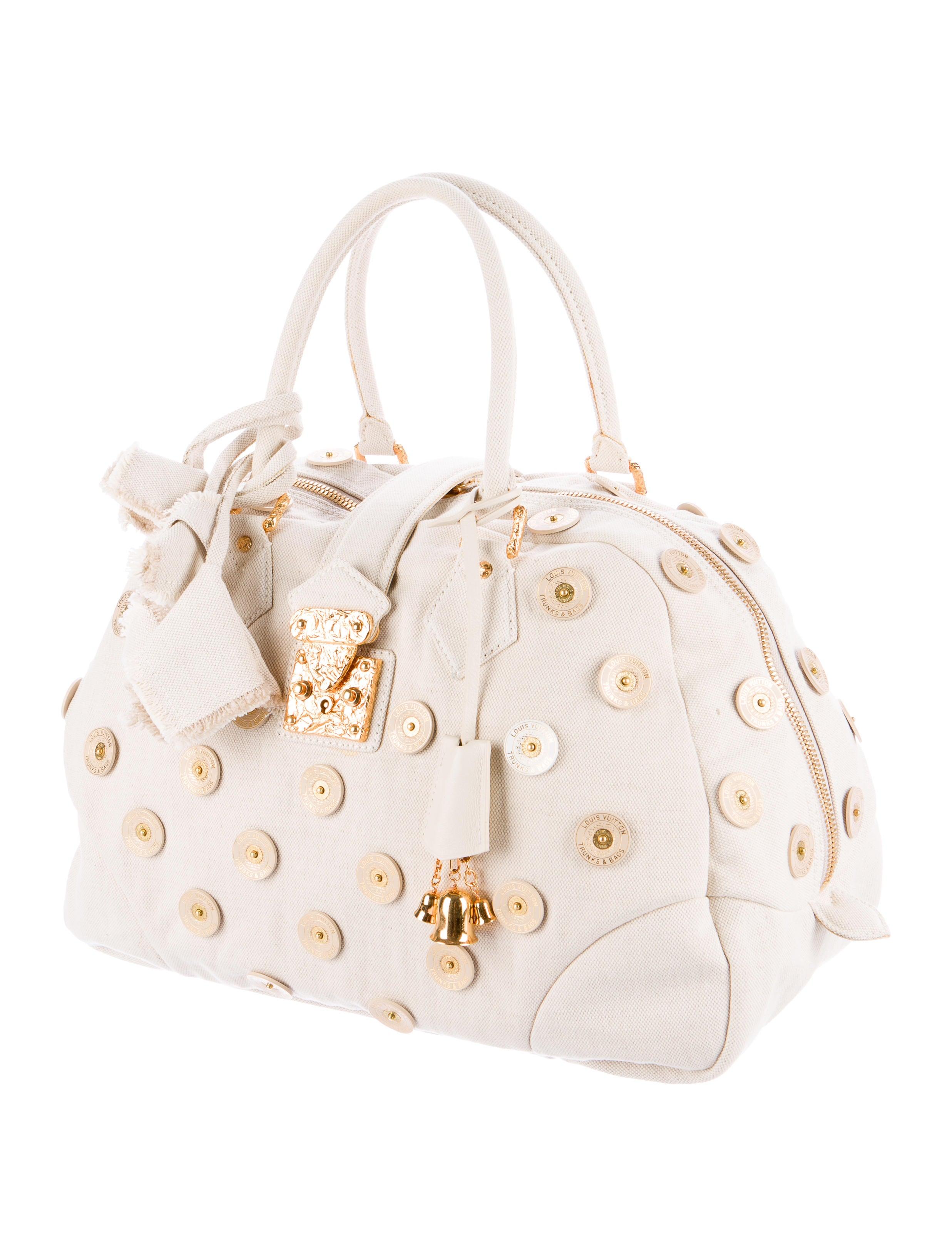 Louis Vuitton Bowly Polka Dot Panama Bag - Handbags
