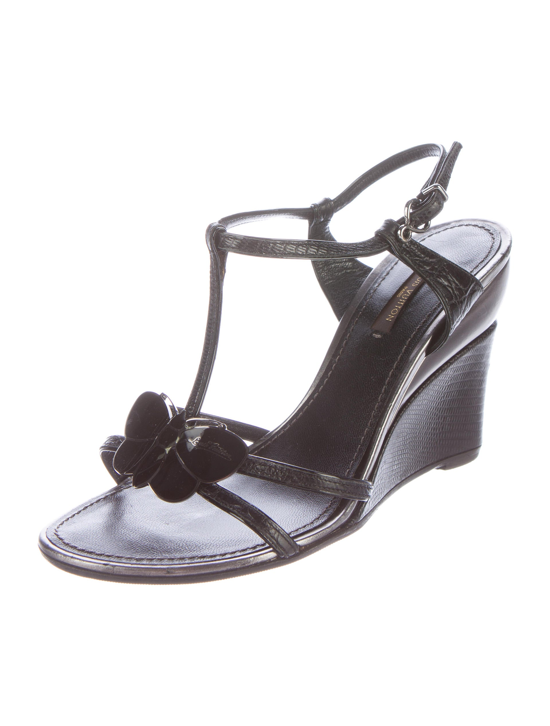 louis vuitton embellished wedge sandals shoes lou91883