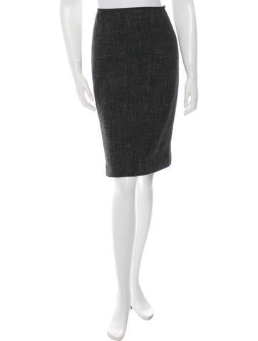 Louis Vuitton Wool Knee-Length Skirt None