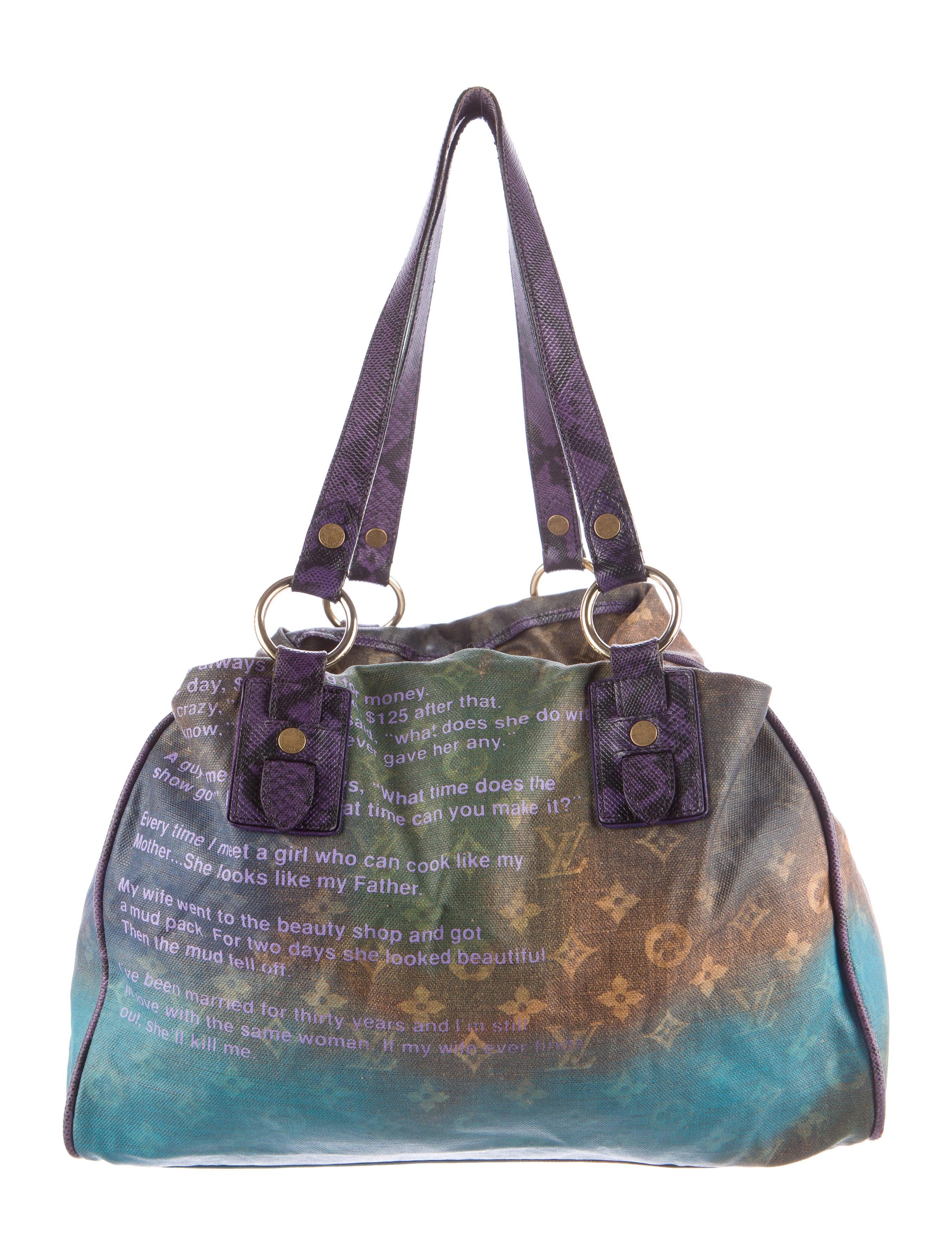 Louis Vuitton Heartbreak Jokes Tote Handbags Lou91950 The Realreal