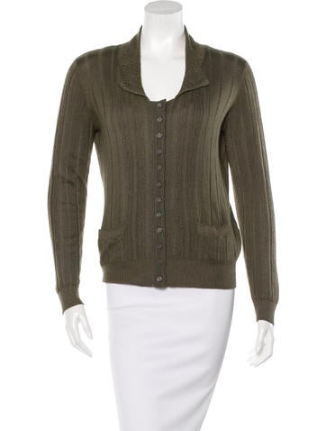 Louis Vuitton Cashmere & Silk-Blend Cardigan None
