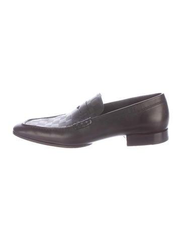 5a97593ec6a Louis Vuitton Damier Penny Loafers - Shoes - LOU92815