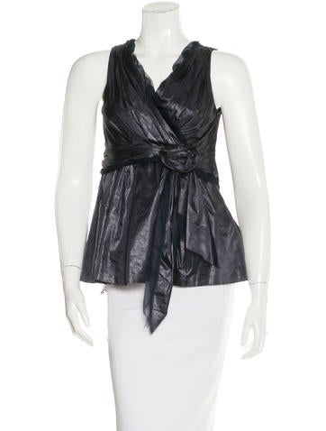 Louis Vuitton Pleated Sleeveless Top None
