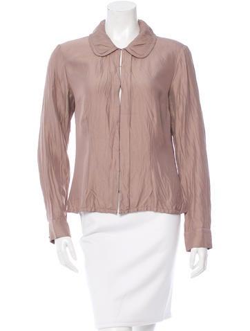 Louis Vuitton Silk-Blend Long Sleeve Blouse