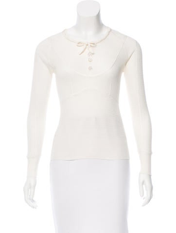 Louis Vuitton Silk Embellished Top None