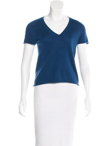 Louis Vuitton Short Sleeve Cashmere Top None
