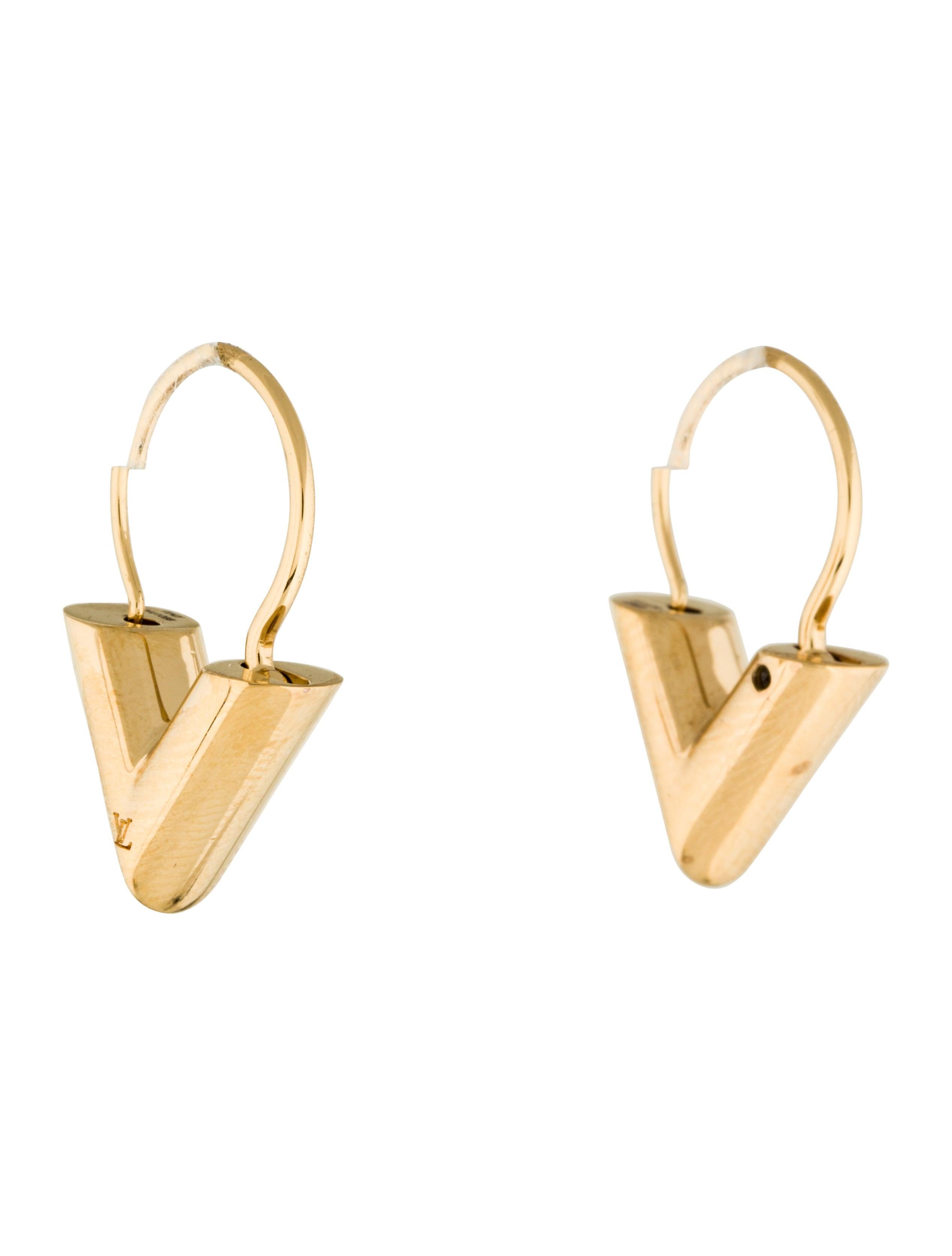 Louis Vuitton Essential V Hoop Earrings Earrings