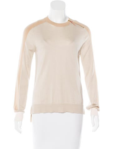 Louis Vuitton Wool & Cashmere-Blend Long Sleeve Sweater None