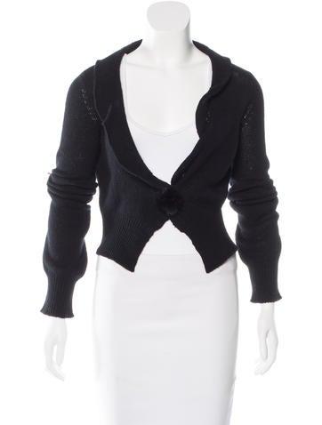 Louis Vuitton Fur-Trimmed Cashmere Cardigan None