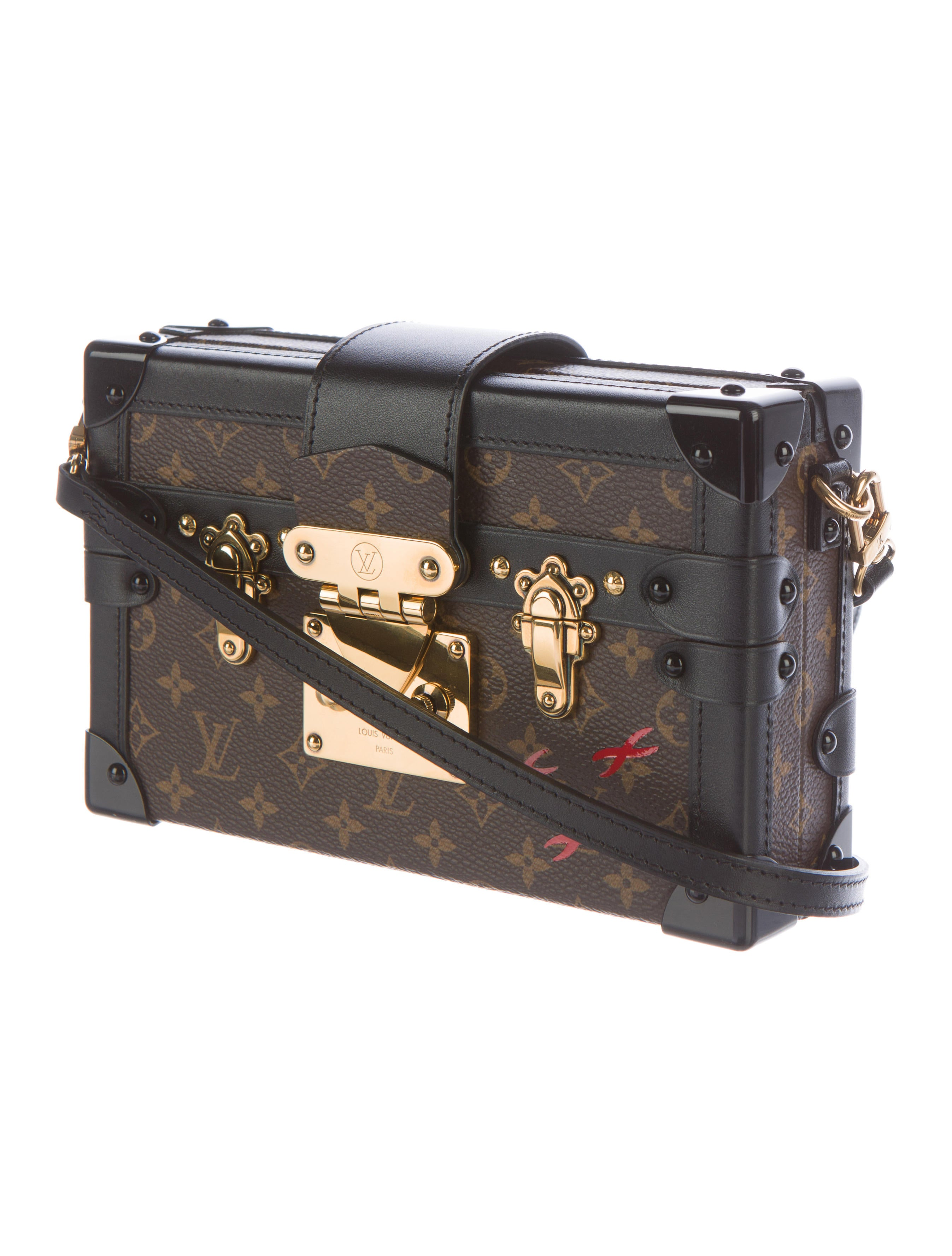 louis vuitton monogram petite malle handbags lou94182 the realreal. Black Bedroom Furniture Sets. Home Design Ideas