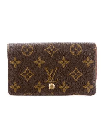 Louis vuitton monogram porte monnaie tr sor wallet for Porte monnaie wallet