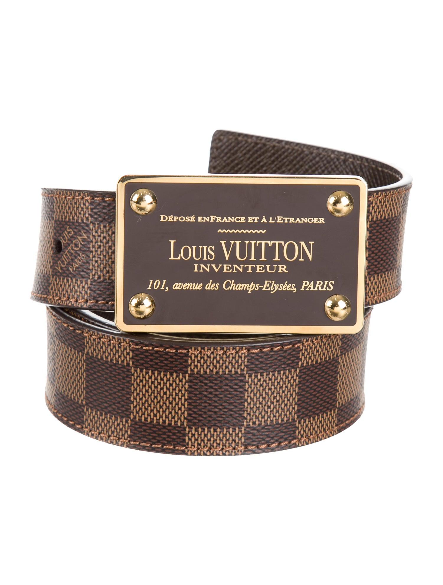 Louis Vuitton Inventeur Damier Reversible Belt