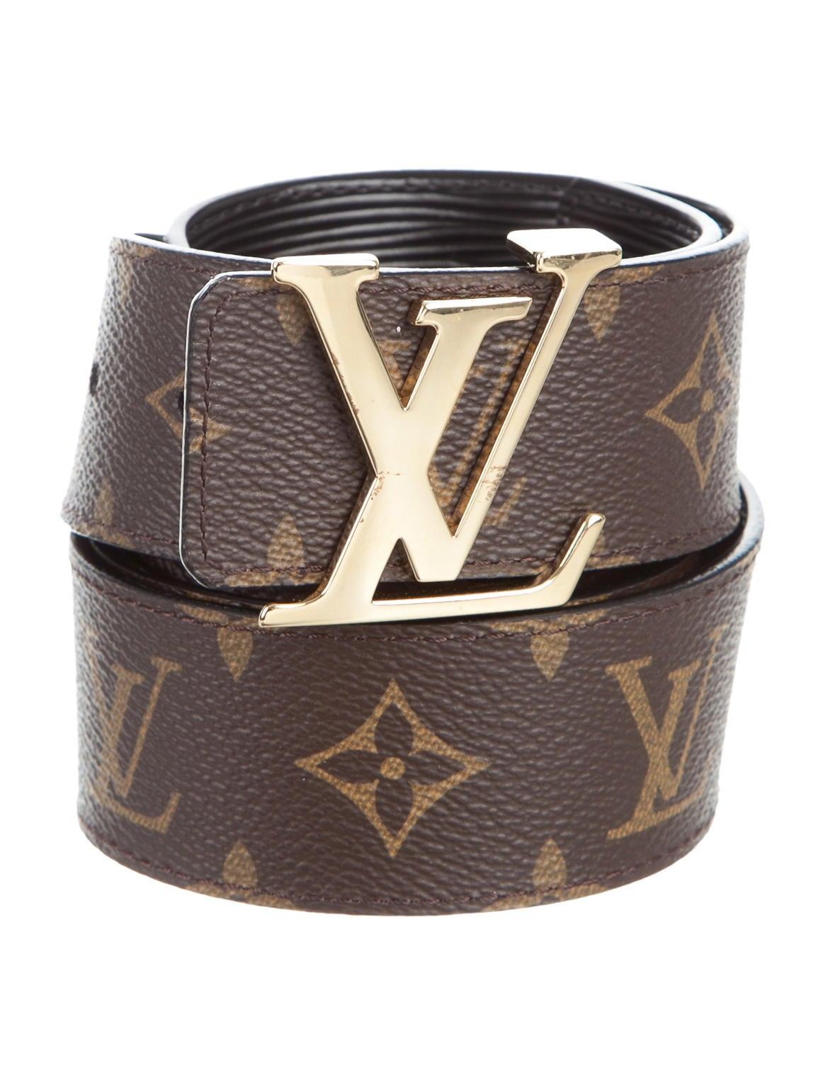 Louis Vuitton Monogram Initiales 40MM Reversible Belt ...