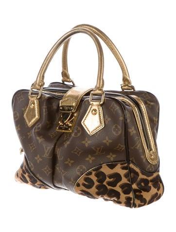 Monogram Leopard Adele Satchel