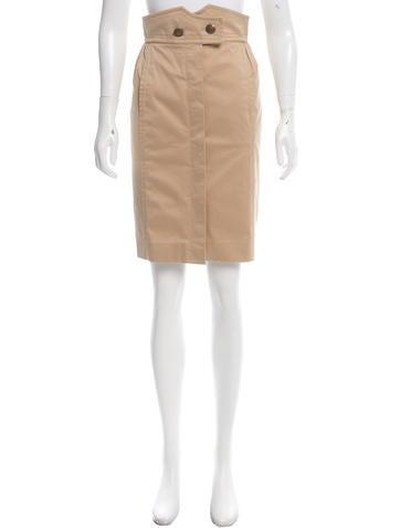 Louis Vuitton Button-Up Knee-Length Skirt None