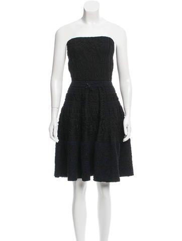 Louis Vuitton Silk Textured Dress None