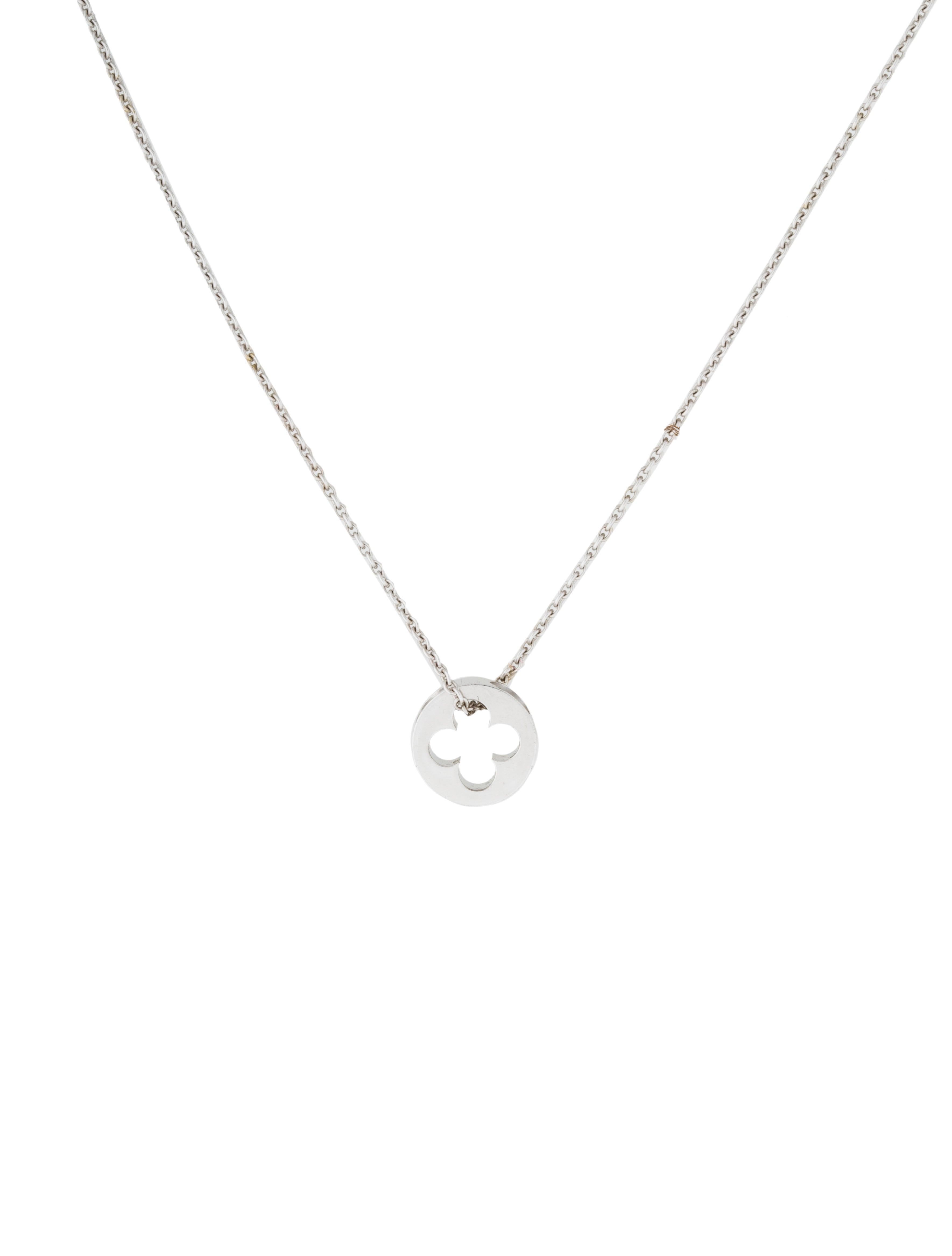 Louis vuitton clover pendant necklace necklaces lou97816 the clover pendant necklace aloadofball Image collections