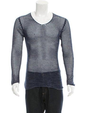 Louis Vuitton Open Knit Scoop Neck Sweater None