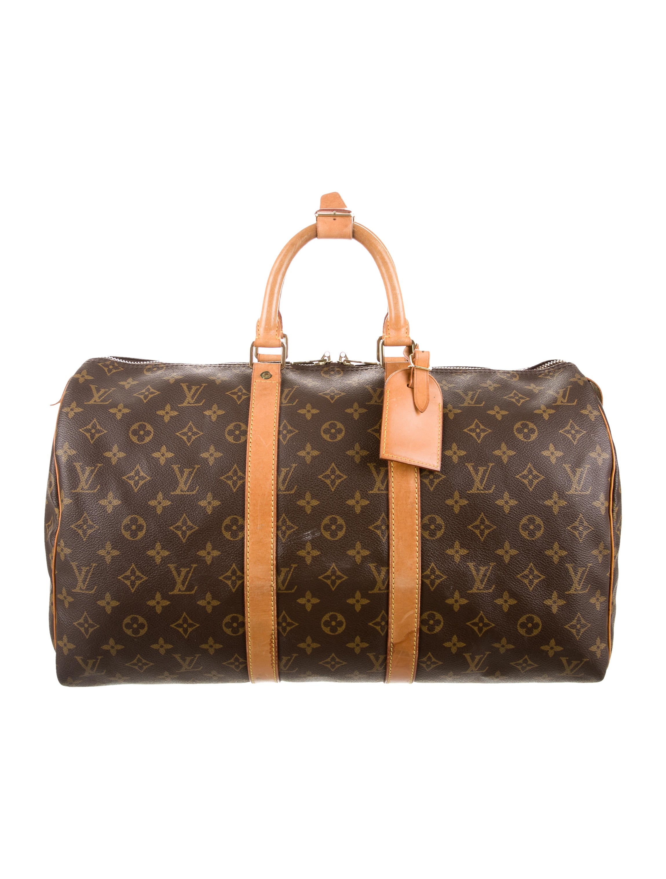 louis vuitton monogram keepall 45 bags lou98966 the realreal. Black Bedroom Furniture Sets. Home Design Ideas