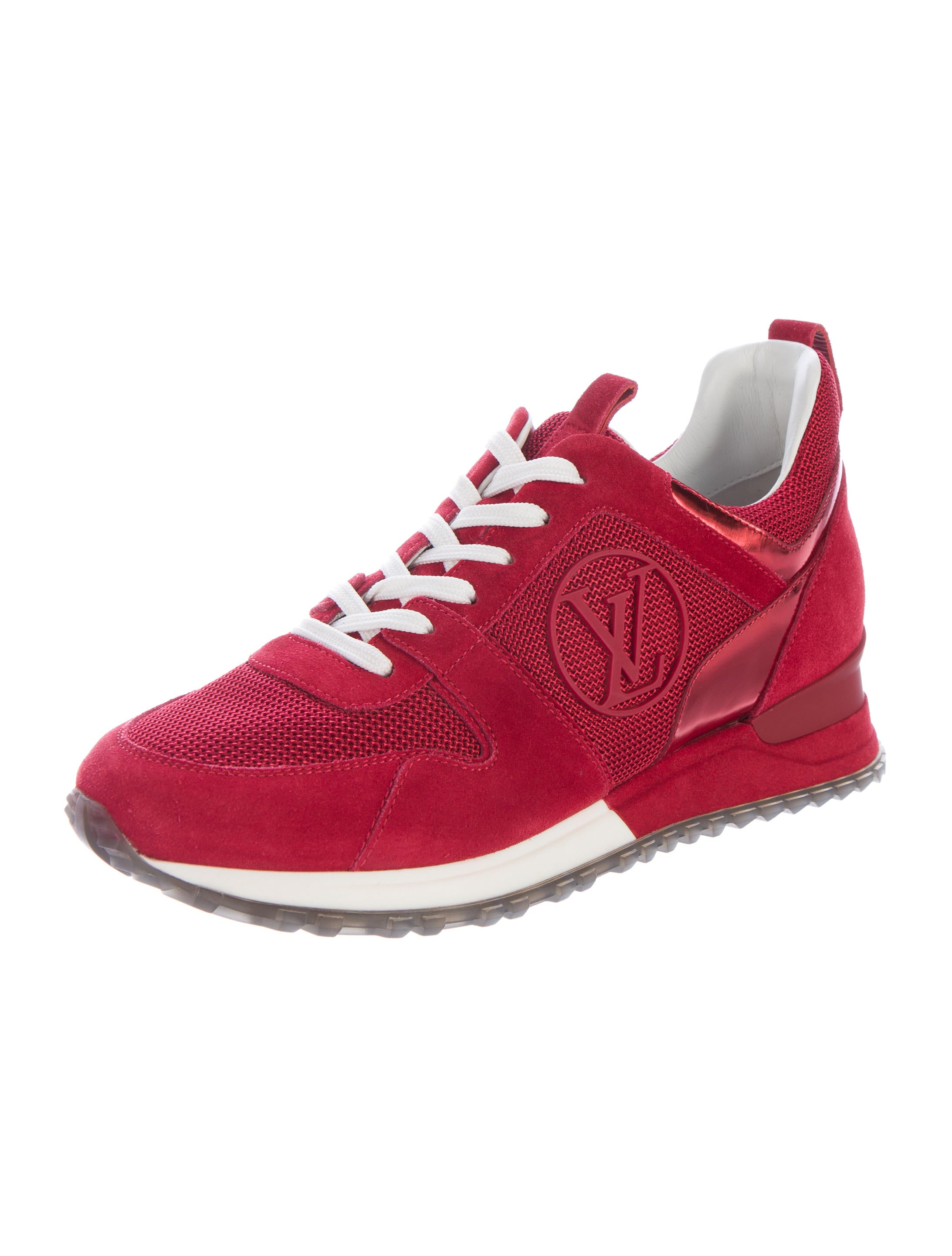 Louis Vuitton Suede Run Away Sneakers Shoes LOU99033  : LOU990332enlarged from www.therealreal.com size 2185 x 2883 jpeg 312kB
