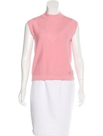 Louis Vuitton Sleeveless Cashmere Top None