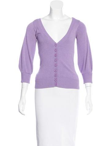 Louis Vuitton Knit Three-Quarter Sleeve Cardigan None
