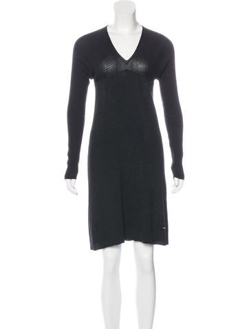 Louis Vuitton Rib Knit Sweater Dress None