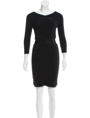 Louis Vuitton Knit Sequin-Accented Dress None