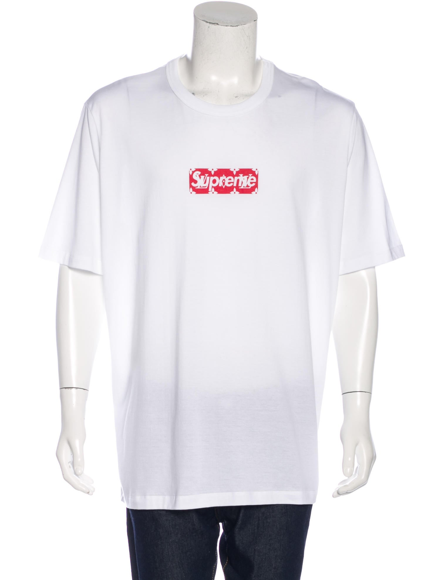 97b28ec342ae Louis Vuitton x Supreme 2017 Box Logo T-Shirt w/ Tags - Clothing ...