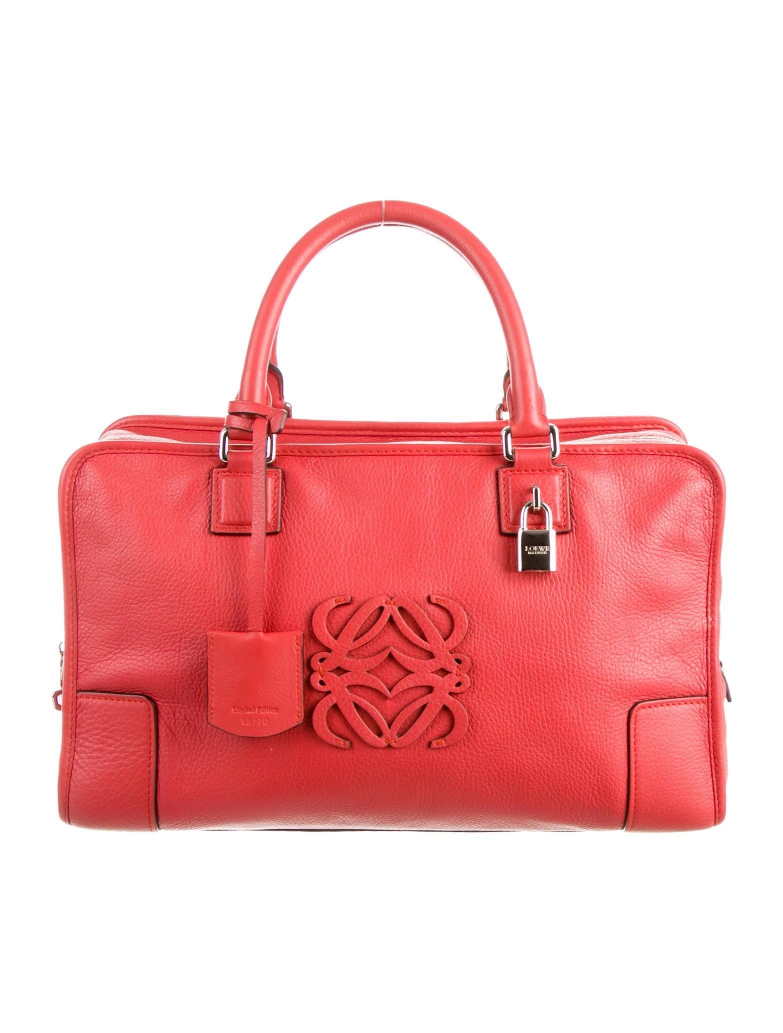 Loewe Leather Amazona Bag Handbags Low20836 The Realreal