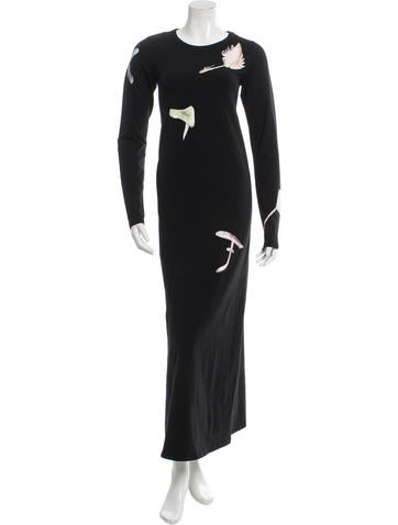Loewe Mushroom Print Maxi Dress w/ Tags None