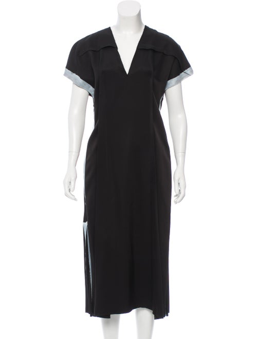 Loewe Short Sleeve Midi Dress Black