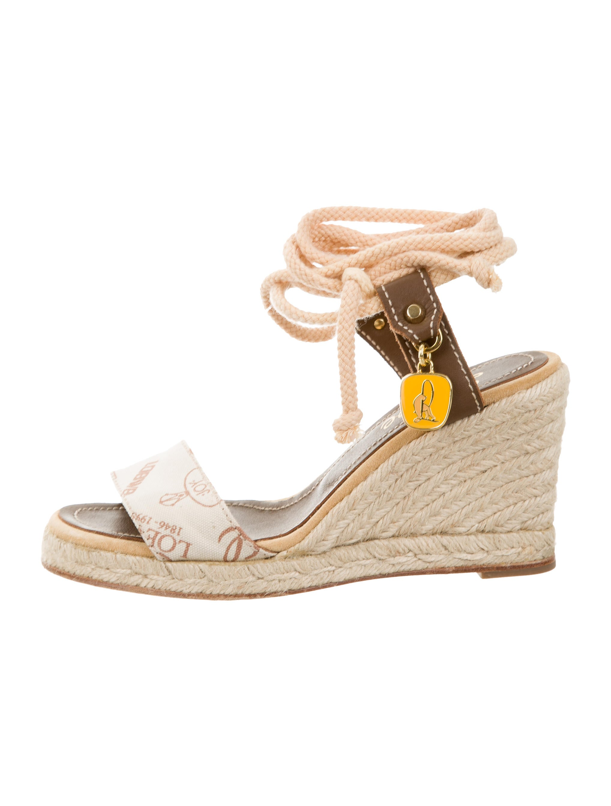 loewe canvas espadrilles wedges shoes low21303 the