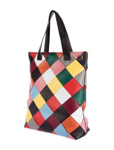 2015 Multicolor Woven Shopper Tote