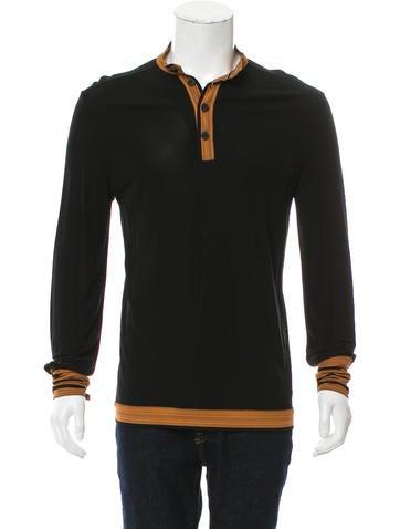 Loewe Contrast Henley Shirt None
