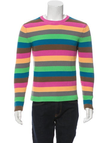 Loewe Striped Rib Knit Sweater None