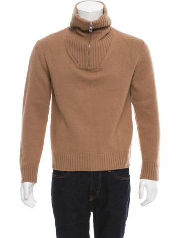Loewe 2016 Camel Half-Zip Sweater None