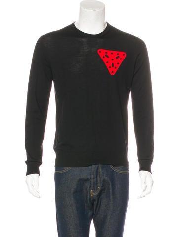 Loewe Merino Wool Crew Neck Sweater None