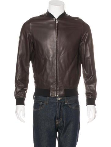 Loewe Leather Bomber Jacket None