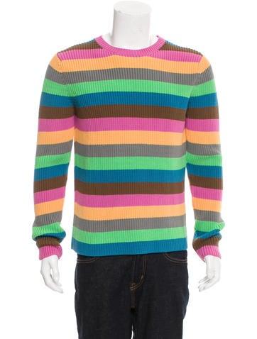 Loewe Striped Rib Knit Sweater w/ Tags None