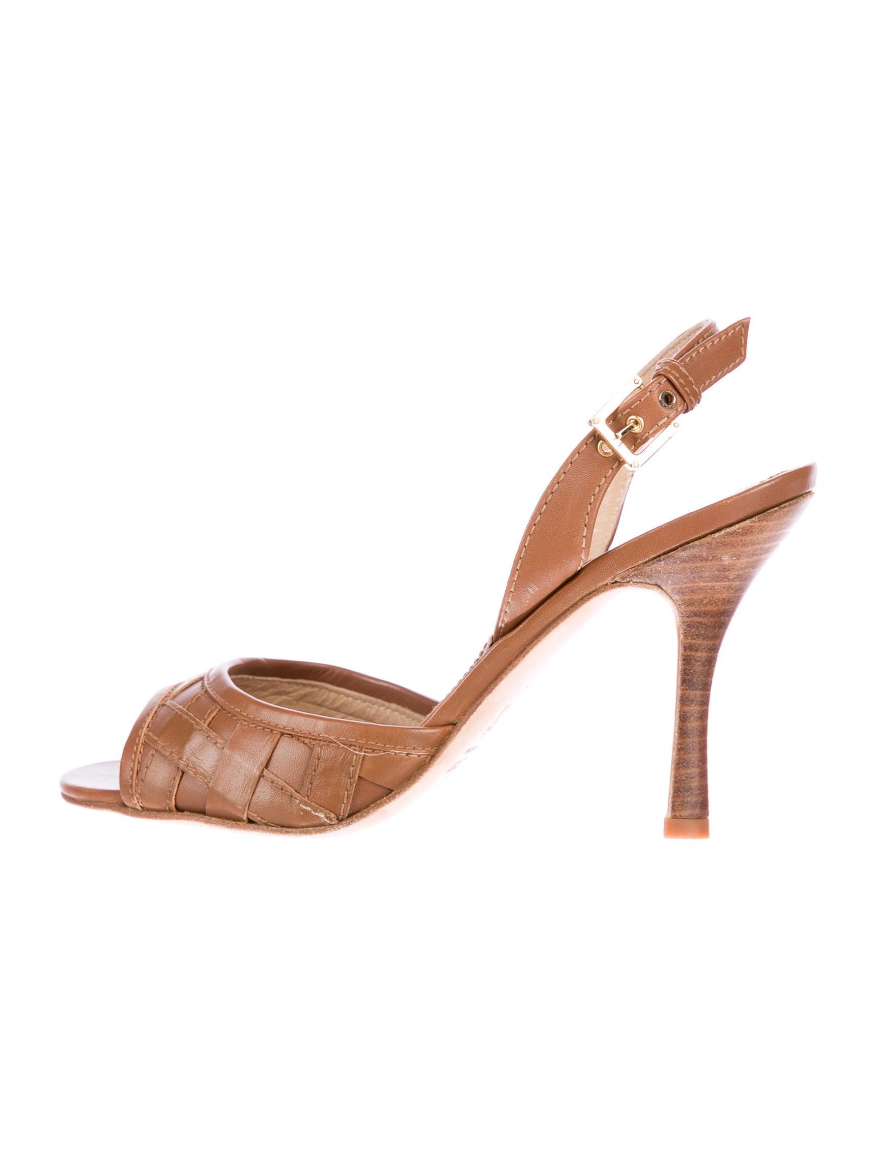 get to buy cheap online Loewe Woven Leather Slingback Sandals factory outlet cheap price K87pL